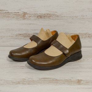 Murtosa  Brown Leather Mary Janes Women's Size 7.5